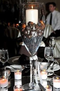 Tall Glass Champagne Vase Wedding Centerpiece, 16, 20, 24 inch