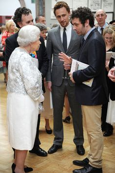 Tom Hiddleston and the Queen.