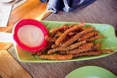 Panko Crusted Chinese Long Beans Recipe served at Trader Sams at Disneyland Hotel in Disneyland