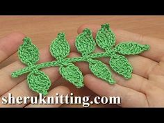 In todays tutorial I will be showing you how to crochet such a simple leaf branch. For crochet leaf branch you need : yarn : 100% Cotton, 169m./50g, Crochet ...