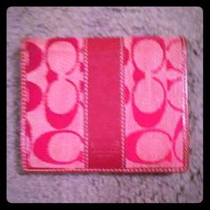 final price drop Coach red wallet. Bundle it! Needs to be cleaned but is still in really good condition. The inside looks great. As is. Coach Bags Wallets
