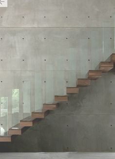 very cool stairs - note 'bannister'. by gh3 architects