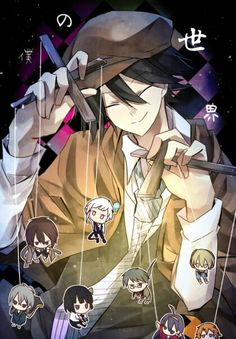 Ranpo and Agency puppets Dazai Bungou Stray Dogs, Stray Dogs Anime, Anime Guys, Manga Anime, Anime Art, Vocaloid, Detective, Edogawa Ranpo, Fan Art