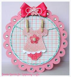 Baby Girl Card - Sugar And Spice & New Arrival  Cricut Cartridges