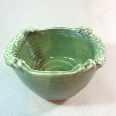 handmade green bowl -ceramic pottery-mixing- serving- gift-planter- fruit bowl- baking-in stock by brookhousepottery on Etsy