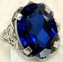 Reduced was $59~ 9 carat Blue Sapphire So Beautiful   ring size 6.5