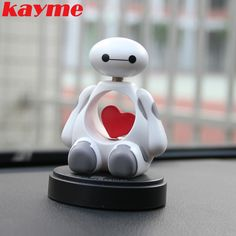 Kayme cute car accessories interior toys ornament bobblehead for car decoration air freshener heart shaking doll solid perfume