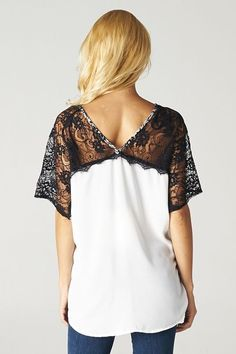 Lace Nelly Tunic (Black Lace Sleeves)
