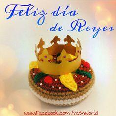 Roscón de reyes de lana.   www.facebook.com/vasniworld