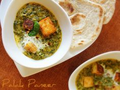 Palak Paneer (creamed spinach curry with fresh cheese) - Thermomix Super Kitchen Machine Radish Recipes, Veggie Recipes, Vegetarian Recipes, Cantaloupe Recipes, Veggie Food, Vegan Meals, Chapati Recipes, Paneer Recipes, Spinach Curry
