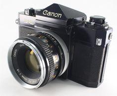 Canon F-1 35mm SLR Film Camera + 50mm F1.8 Lens - Vintage Rare #Canon