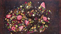 Fruktnøtt: Sjokolade med frukt og nøtter