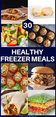 30 Easy Healthy Freezer Meals To Make Ahead Healthy make ahead freezer meals perfect for new moms & families! These make ahead freezer meals are perfect for meal planning whether you're cooking for a family of two or five! These healthy freezer meals will Make Ahead Freezer Meals, Make Ahead Lunches, Freezer Cooking, Cooking Recipes, Healthy Crockpot Freezer Meals, Make Ahead Healthy Meals, Healthy Breakfasts, Cooking Chef, Healthy Dishes