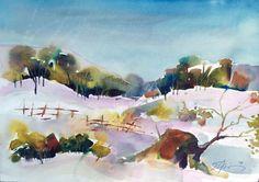 ARTFINDER: Winter by Elena Ilieva - One of a kind artwork