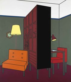 Patrick Caulfield (British, 1936-2005), Interior with Room Divider, 1971. Acrylic and oil on canvas, 84 x 72 in.