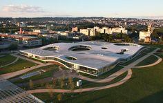 Lausanne,Switzerland- Rolex learning Center.. Kazuyo Sejima of SANAA architects