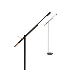 Vermont 7w LED Touch Floor Lamp Dimmable Matt Black w/ Copper Mercator A22621, $189.00