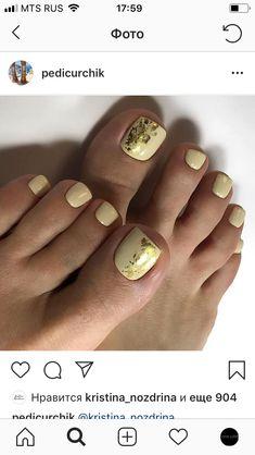 Pretty Pedicures, Pretty Toe Nails, Cute Toe Nails, Cute Nail Art, Pretty Toes, Fancy Nails, Diy Nails, Pedicure Nail Art, Pedicure Designs