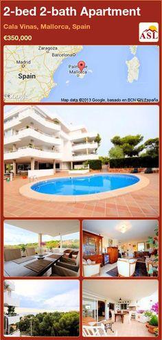 2-bed 2-bath Apartment in Cala Vinas, Mallorca, Spain ►€350,000 #PropertyForSaleInSpain