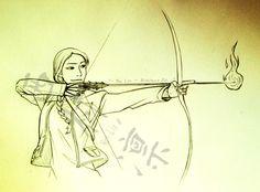Katniss by HayLin-Narutina-Rin #hungergames #hungergamescatchingfire #hungergameskatniss #hungergamesfanart #katnisseverdeen #katniss #everdeen #katnisseverdeenthegirlonfire #katnisshungergames