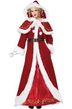 Women Santa costumes also are available in the style of a skater dress and this style has gained a lot of prominences recently.Pick up your style and get ready with all other Santa dress accessories along with your perfectly styles women Santa costume. Mrs Claus Outfit, Mrs Santa Claus Costume, Mrs Claus Dress, Adult Costumes, Costumes For Women, Santa Dress, Santa Hat, California Costumes, Santa Suits