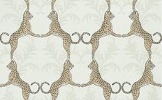 Cheetah (839-T-4937) - Thibaut Wallpapers - A stylised cheetah design in a geometric style, on a pale back background - Vinyl coated. This is an American wallcovering and will take between 7-10 working days for delivery. Please request sample for true colour match.
