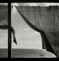 "poetryconcrete: ""Window view of sea, by Herbert List, in Liguria, Italy "" Modern Photography, Vintage Photography, Black And White Photography, Street Photography, Landscape Photography, Herbert List, Harper's Bazaar, Robert Frank, Andre Kertesz"