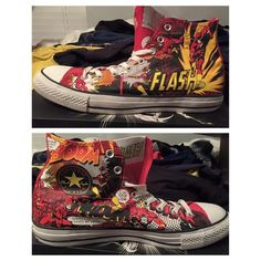 7a3572878bb1 Limited Edition Unisex The Flash converse Size 11 Men s