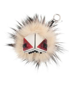 Prism Triangle Monster Fur Purse Charm, White Multi by Fendi at Neiman  Marcus. 75ad28214c