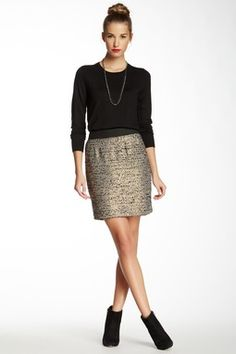 Pencil Me in Boucle Skirt