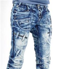 Jeans pour homme tendance coloris javel chez Efamous.fr