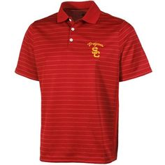 USC Trojans Touchback Striped Polo - Cardinal  #UltimateTailgate #Fanatics
