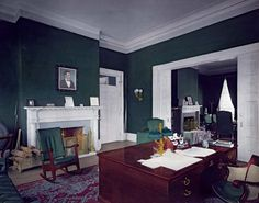 President's office, which was used before the construction of the Oval Office, White House, Washington, D.C.