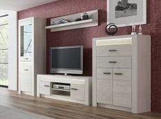 Obývací sestava v elegantním dekoru jasan bílý KN089