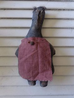 Primitive Grungy Black Mammy Cupboard Doll Tuck Ornie Handmade  #NaivePrimitive #Handmade