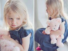 with her fav teddy bear