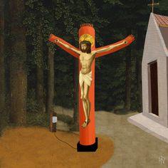 James Kerr's Jesus on an Inflatable Tube Man
