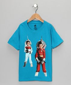 Teal Space Soldier Tee from UCHUUSEN on #zulily #cool #funny #kids tee