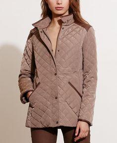 Lauren Ralph Lauren Petite Diamond Quilted Jacket, Only at Macy's