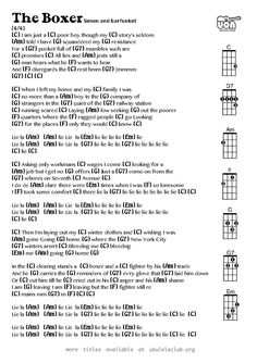 The Boxer (Simon and Garfunkel) Ukulele Chords