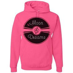 MoonDreamsRecord #Rhinestones #NeonPink #HeavyweightHoodie by #MoonDreamsMusic