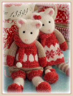 Winter Mice at the TEAROOM Knitting by maryjanestearoom