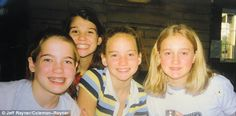 Happy campers: Jen (in stripes) and her buddies spent summers at Camp Loucon, a Christian ...