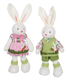 Another great find on #zulily! Spring Sparkle Bunny Plush Set by Transpac Imports #zulilyfinds