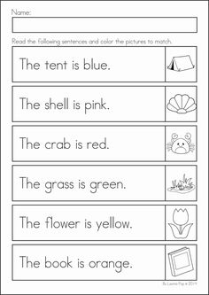 Worksheets Read And Color Worksheets read and color the simple sentence correctly kindergarten summer review math literacy worksheets activities 104 pages a page from