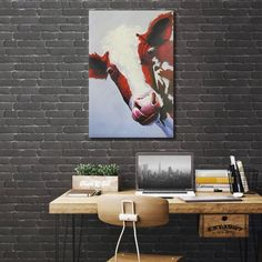 'Holy Cow!' - Canvas Print
