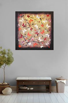 i think this one is quite summery?.. #butterflyart Firestone by Paresh Nrshinga #collageart View more in our online gallery hhtps://artnrshinga.com/