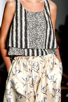 Suno Spring 2013 silk trousers