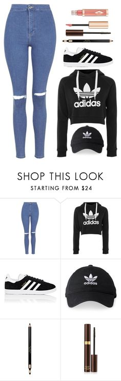 """They can never make me hate u, even tho wat u was doing wasn't tasteful"" by may-boo ❤ liked on Polyvore featuring Topshop, adidas, Clarins and Tom Ford"