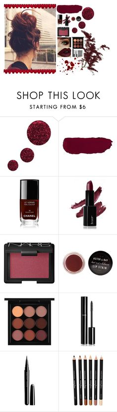 """""""Maroon"""" by katiecutie31 on Polyvore featuring Topshop, Chanel, NARS Cosmetics, MAC Cosmetics and Marc Jacobs"""